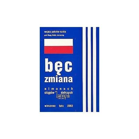Bęc Zmiana. lampowy almanach z flagą biało-czerwoną i trzema paskami na okładce
