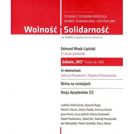 Wolność i Solidarność. 7/2014