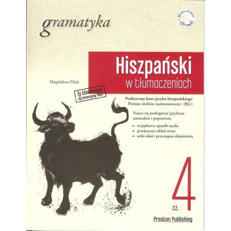 Hiszpański w tłumaczeniach. Gramatyka cz 4 + CD