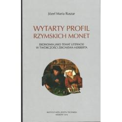 Wytarty profil rzymskich monet