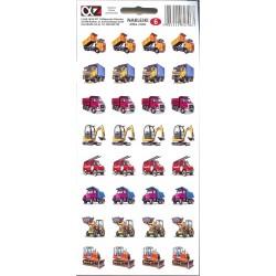 Naklejki Alfika i Zetki 6 Auta ciężarowe Maszyny budowlane