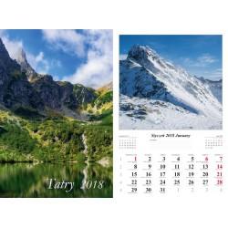 Kalendarz 2018 Tatry (13 plansz)