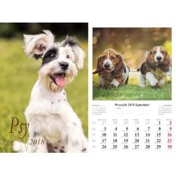 Kalendarz 2018 Psy (13 plansz)