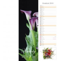 Kalendarz 2018 Kwiaty (pasek)