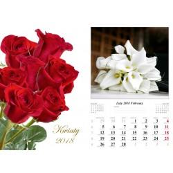 Kalendarz 2018 Kwiaty (13 plansz)