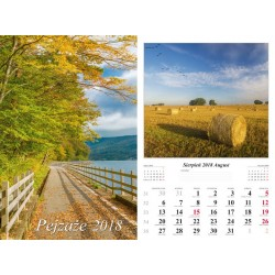 Kalendarz 2018 Pejzaże (13 plansz)
