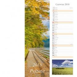 Kalendarz 2018 Pejzaże (13 plansz) Pasek