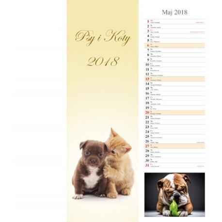 Kalendarz paskowy 2018 Psy i koty