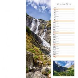 Kalendarz paskowy 2018 Tatry