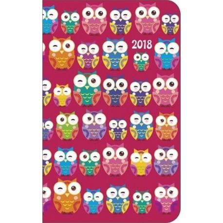 Kalendarz kieszonkowy, sowy