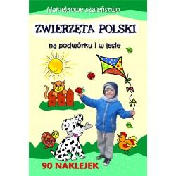 Zwierzęta Polski na podwórki i w lesie. Naklejkowe szaleństwo