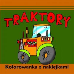 Traktory. Kolorowanka z naklejkami