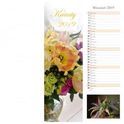 Kalendarz paskowy 2019 Kwiaty (13 plansz)