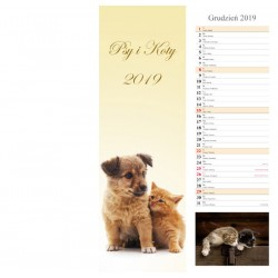 Kalendarz paskowy 2019 Psy i Koty (13 plansz)