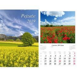Kalendarz 2019 Pejzaże (7 plansz)