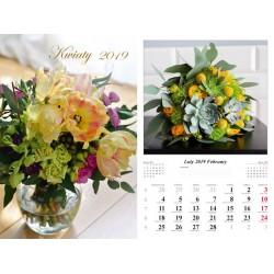 Kalendarz 2019 Kwiaty (13 plansz)