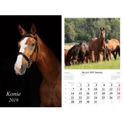 Kalendarz 2019 Konie (13 plansz)