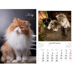 Kalendarz 2019 Koty (13 plansz)