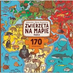 Zwierzęta na mapie. Puzzle 170 el.