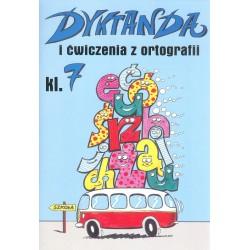 Dyktanda i ćwiczenia z ortografii klasa 7