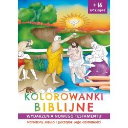 Kolorowanki biblijne Narodziny Jezusa i początek Jego działalności