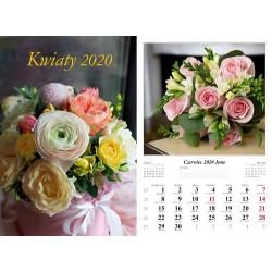 Kalendarz 2020  Kwiaty 7 plansz