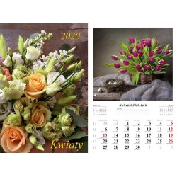 Kalendarz 2020 Kwiaty 13 plansz