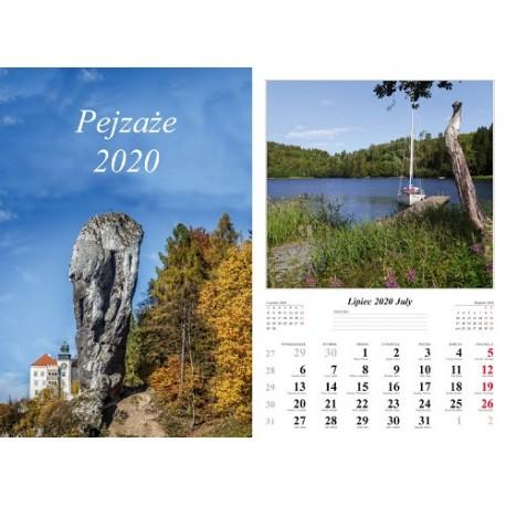 Kalendarz 2020 Pejzaże 13 plansz