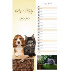 Kalendarz 2020 paskowy Psy i Koty 13 plansz