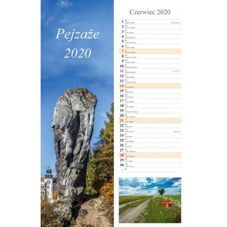 Kalendarz 2020 paskowy Pejzaże 13 plansz