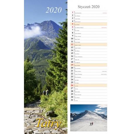 Kalendarz 2020 paskowy Tatry 13 plansz