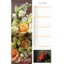 Kalendarz 2020 paskowy Kwiaty 13 plansz