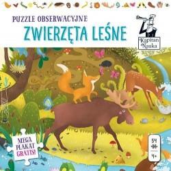Zwierzęta leśne. Puzzle obserwacyjne