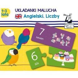 Angielski Liczby Układanki malucha 1-3 lata