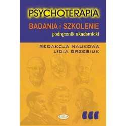 Psychoterapia. Badanie i szkolenie