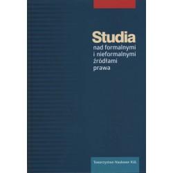 Studia nad formalnymi i nieformalnymi źródłami prawa.