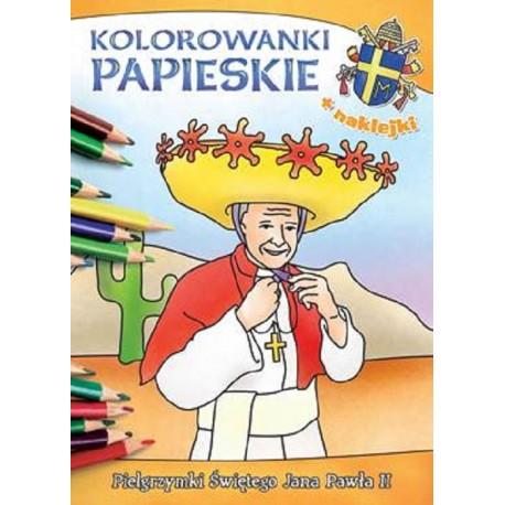 Kolorowanki papieskie. Pielgrzymki Świętego Jana Pawła II