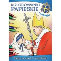 Kolorowanki papieskie Święty Jan Paweł II i ważni ludzie