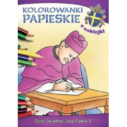 Kolorowanki papieskie Życie Świętego Jana Pawła II