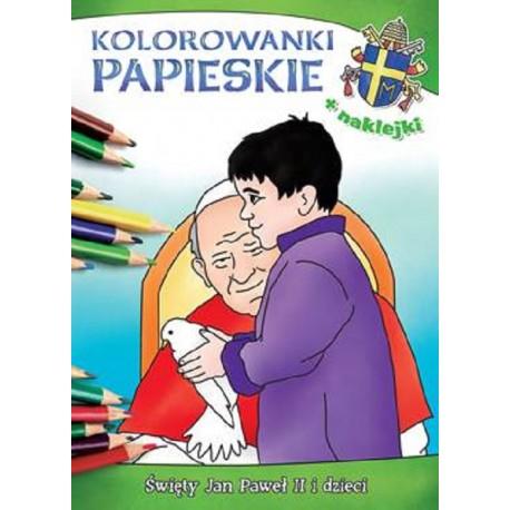 Kolorowanki papieskie Święty Jan Paweł II i dzieci