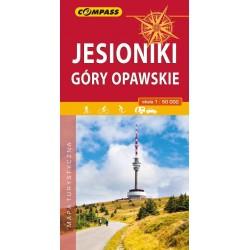 Jesionki i Góry Opawskie mapa turystyczna
