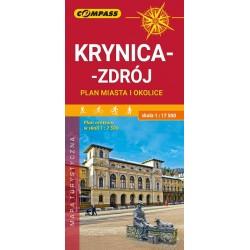 Krynica-Zdrój plan miasta i okolice