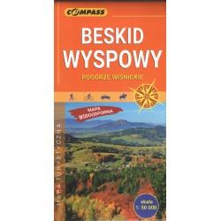 Beskid Wyspowy Pogórze Wiśnickie mapa wodooodporna