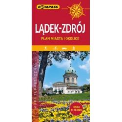 Lądek-Zdrój Plan miasta i okolice