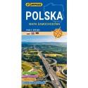 Polska. Mapa samochodowa w skali 1:650 000