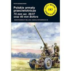 Polskie armaty przeciwlotnicze 75 mm wz.36/37 oraz 40 mm Bofors
