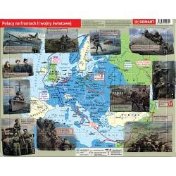 Polacy na frontach II wojny światowej puzzle ramkowe