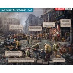 Powstanie Warszawskie 1944 puzzle ramkowe