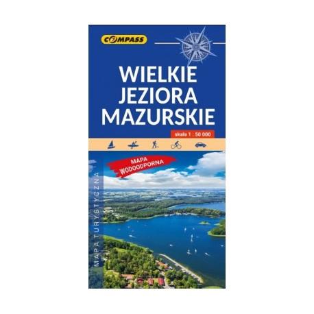 Wielkie Jeziora Mazurskie. Mapa turystyczna 1:50 000