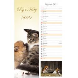 Kalendarz 2021 Psy i Koty 13 plansz